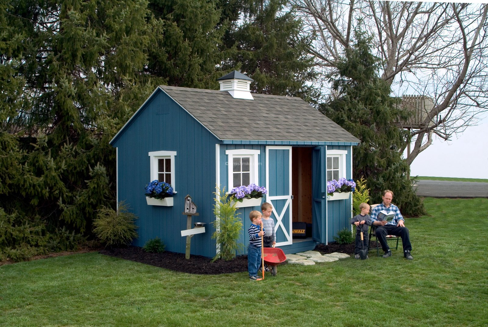 10x12 blue cape cod shed