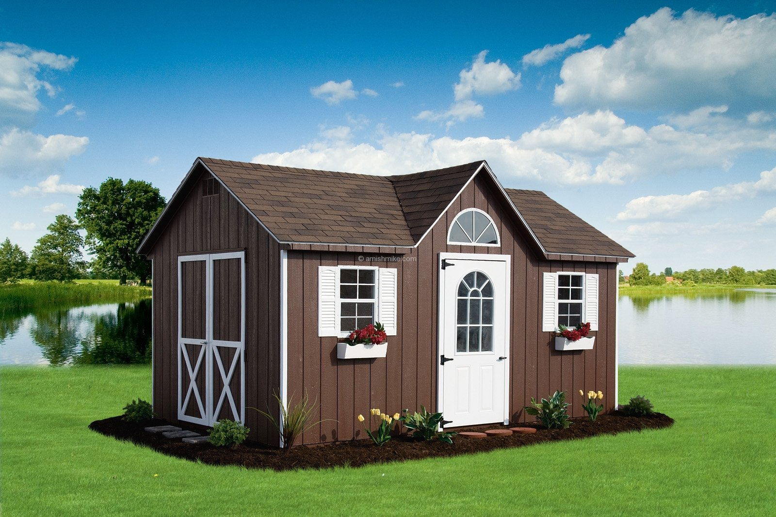 Traditional series cape cod sheds amish mike amish for 12x18 shed window