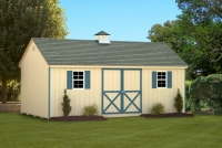 12x20 Almond Cape Cod Shed Gable