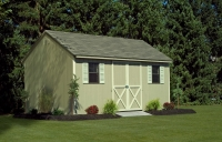 10x16 Clay Cape Cod Shed Gable