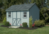 8x12 Grey Cape Cod Shed Gable