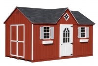 10x16 Red Cape Cod Shed
