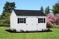 10x14 Lanco White and Black Shed