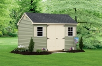 10x12 Traditional Irish Garden Vinyl Cape Cod Shed