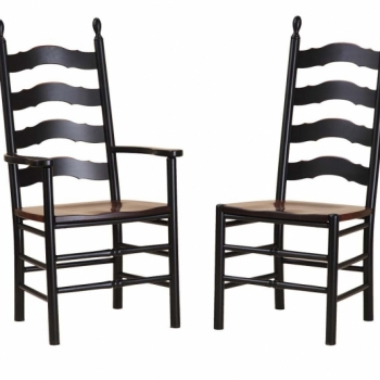 K-1502-1503 Ladder Back Chairs 23wx21 1/2dx43 1/2h