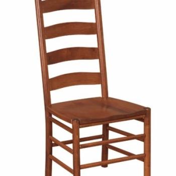 K-1516-Shaker Ladder Back Side Chair 19wx21 1/2dx43 1/2h