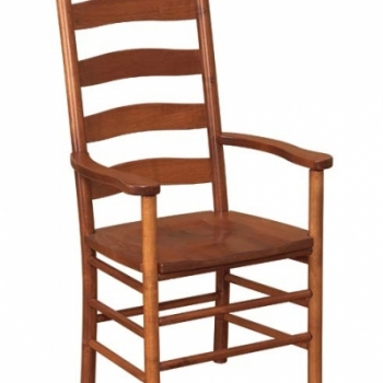 K-1517-Shaker Ladder Back Arm Chair 23wx21 1/2dx43 1/2h