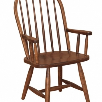 K-1521-6 Spindle Arm Chair 23 1/2wx17 1/2dx41h