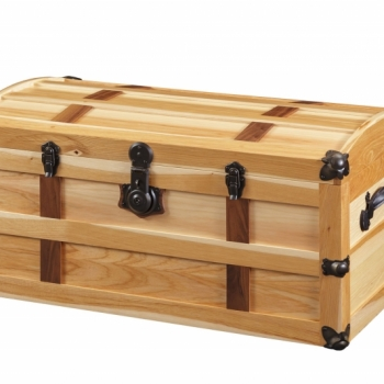 Steamer Trunk Hickory 36Lx20Wx18H