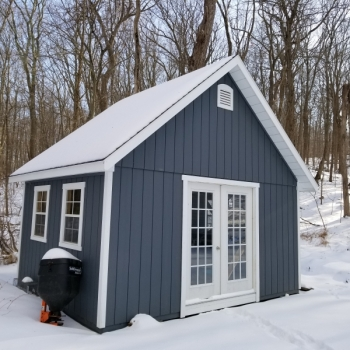 12x16 Manor A-Frame with 2 extra 18x36 Windows Upgrade to 15 Lite Pre Hung Doors Upgrade to 2x6 Floor Joist