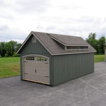 12 x 20 Manor A with Garage Door and Arch Opening