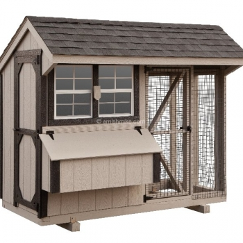 4' x 8' Quaker Combination Style Chicken Coop