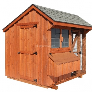 6' x 8' Quaker Combination BB Rustic Cedar Style Chicken Coop