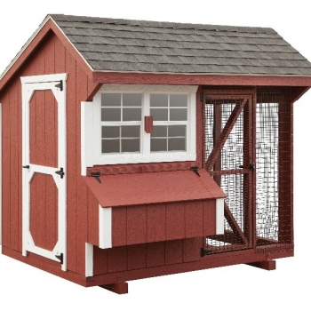 6' x 8' Quaker Combination Style Chicken Coop