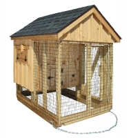 4' x 6' A-Frame Combination BB Natural Style Chicken Coop