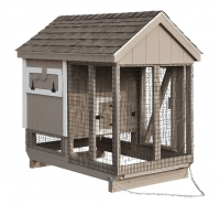 4' x 6' A-Frame Combination Style Chicken Coop