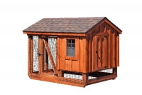 5' x 7' A-Frame Combination BB Rustic Cedar Style Chicken Coop