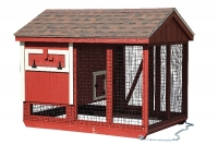 5' x 7' A-Frame Combination Style Chicken Coop