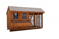 6' x 12' Quaker Combination BB Cedar Style Chicken Coop