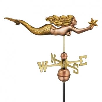 966GL Mermaid w: Starfish Golden Leaf
