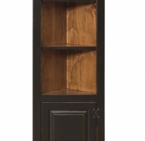 IE-183 Small Corner Cabinet with Wood Door 24wx12dx71h