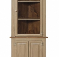 IE-95 Medium Corner Cabinet with Glass 28 1/2wx14 1/2dx75h