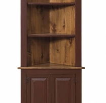 IE-85 Medium Corner Cabinet open 28 1/2wx14 1/2dx75h