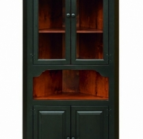 J-17 Large Corner Cupboard With Glass 37wx80hx14d