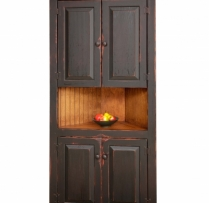 "HB-5-T 32"" Corner Cupboard with Short Top Raised Panel Doors 32wx72hx14d"