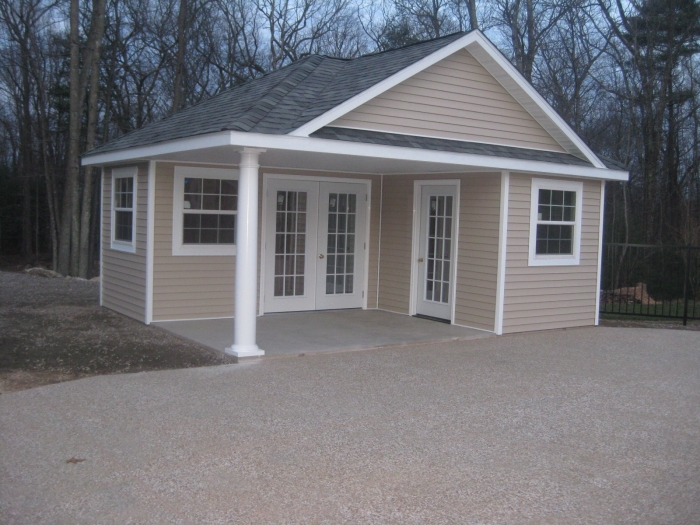 Custom pool houses amish mike amish sheds amish barns for 12x18 shed window