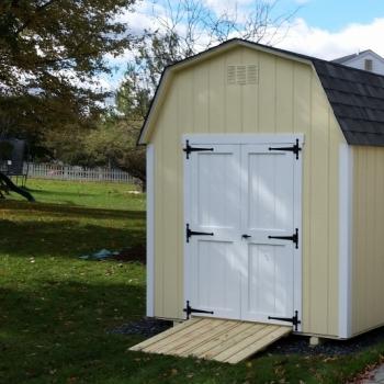 8x12 6' Wall Barn