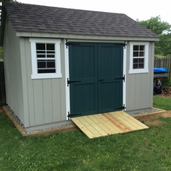 10x12 Cape Cod Deluxe With Optional Ramp