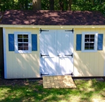 8x14 Deluxe Elite with Ramp and trim Shutter Combo