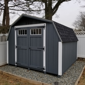 10 x 10 Deluxe Mini Barn With Transom Windows