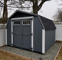 10 x 10 Deluxe Mini Barn With Transom Windows