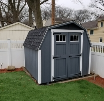 8x10 Deluxe Mini Barn With Tansom Windows