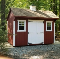 8x12 Deluxe Quaker Shed With Cupola