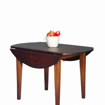 "HB-25-K 4' Round Harvest Table with 2-9"" drops with drops down 30wx48l"