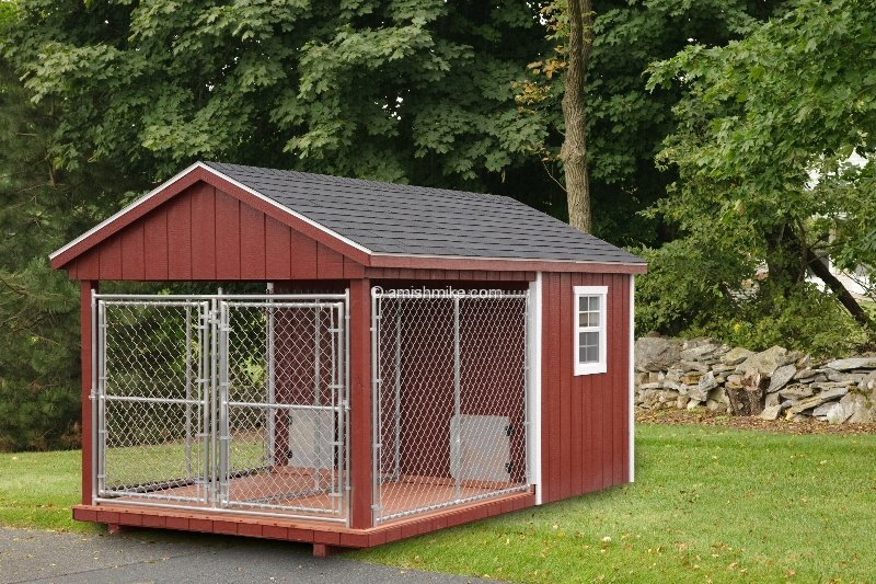 A frame chicken coops and dog kennels wooden amish mike for Dog boarding in homes