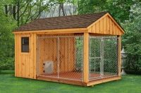 8' x 12' Board and Batton Kennel