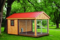 8' x 14' Tongue And Groove Siding Kennel