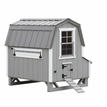 Light Grey Siding - White Trim - Charcoal Metal Roof