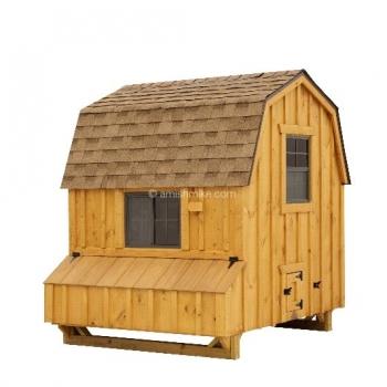6' x 6'  Dutch BB Brown Cedar Coop