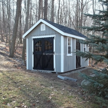 8' x 14' New England Elite with optional garden vents, eyebrow windows in doors, 1 extra Elite door