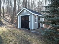 8' x 14' New England Elite with optional garden vents, eyebrow windows in doors, 1 extra Elite door
