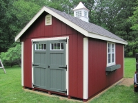 10' x 16' Elite A Shed Red