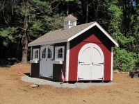 10' x 14' Elite A Shed Red and White