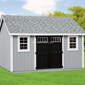12' x 14' Wood New England Cape Cod Gray