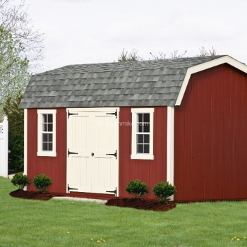 10' x 16' Elite Dutch Red Shed