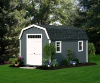 10' x 16' Deluxe Colonial Gray Shed